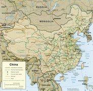 Rock Climbing Photo: Map of China.
