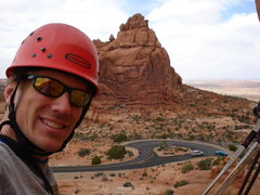 Rock Climbing Photo: Climbing in Arches N.P.