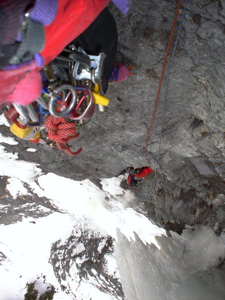 Rock Climbing Photo: Looking down from the third belay.