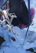 Rock Climbing Photo: Looking down Popcicle. Bringing Jim (Hutch) Hutchi...