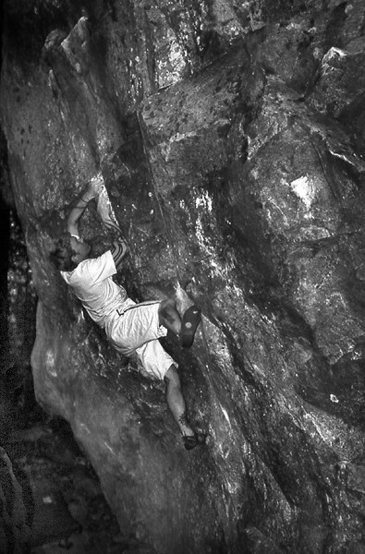Roscoe Roatch at Cathedral Boulders.<br> Photo by Blitzo.<br>