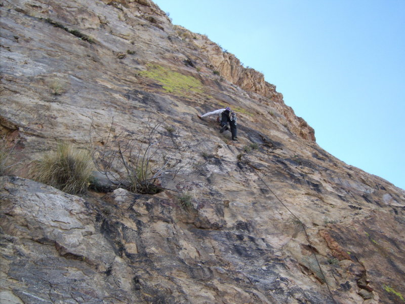 Rock Climbing Photo: sketchy adventure...long run-outs