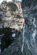 Rock Climbing Photo: Me in the crux bulge of Winterfest.