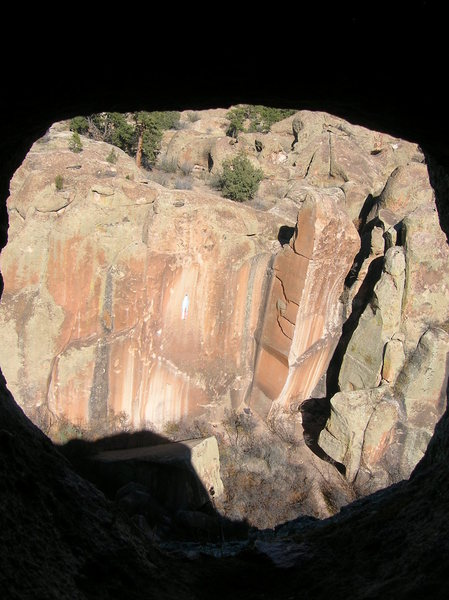 The show case of the Inner Canyon, as viewed through a hole at the top of the canyon.