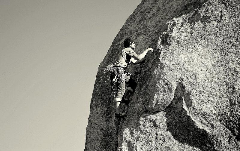 Rock Climbing Photo: Where two deserts meet, 5.8 JT