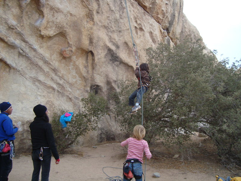 Rock Climbing Photo: kid swing!