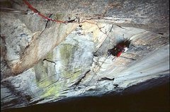 Rock Climbing Photo: Fritz luxuriates at the belay.  (We were a bunch o...