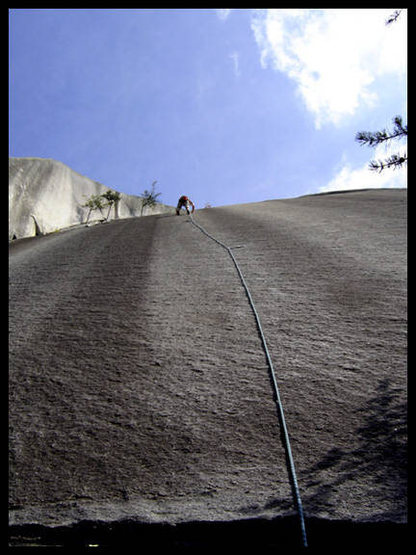 Rock Climbing Photo: Joe keeping it together on lead. Super fun route!