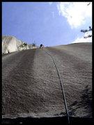 Rock Climbing Photo: Joe keeping it together on lead. Super fun route!