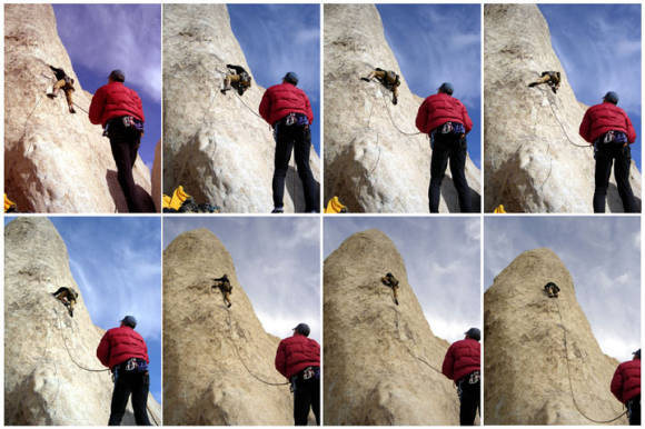 Rock Climbing Photo: I don't know if this is the crux of the climb...be...