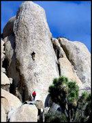 Rock Climbing Photo: Leading up Loose Lady