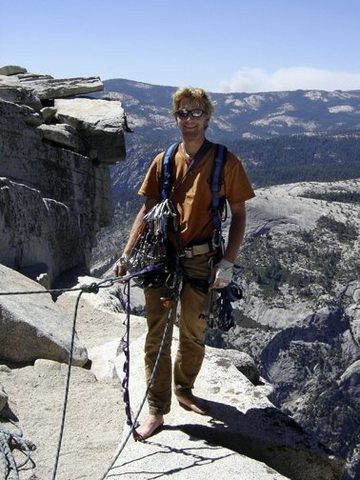 Rock Climbing Photo: Top out on Half Dome