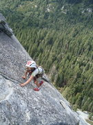 Rock Climbing Photo: Pierce onsights Knapsack on TR!