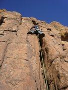 Rock Climbing Photo: Avoiding bolts like the plague.