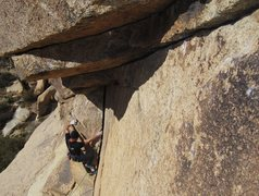 Rock Climbing Photo: Dave Mayville leading Uppercut, 5.10d  photo by bo...