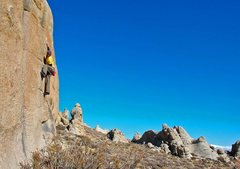 Rock Climbing Photo: AW on an amazing unnamed highball...