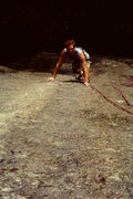 Rock Climbing Photo: Nick Grant on a VERY early ascent of ATU (eb's) ma...