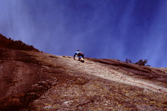 Rock Climbing Photo: Milkey Way pitch 5.9 around 1981/2