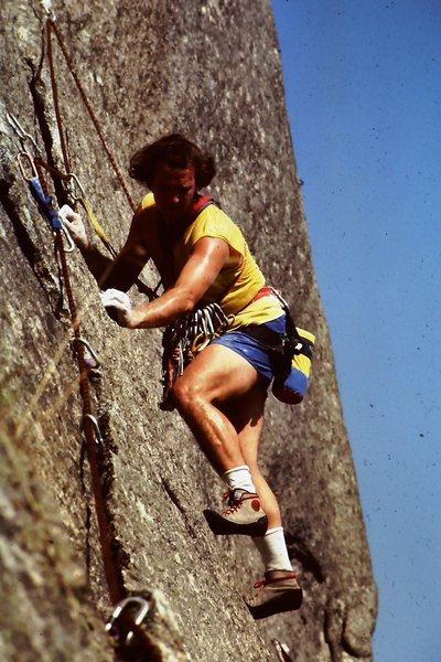 Free climbing P2 10+ R 1983