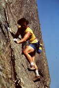 Rock Climbing Photo: Free climbing P2 10+ R 1983