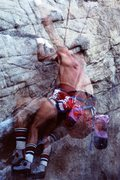 Rock Climbing Photo: Tom Callaghan on the start '84 or so
