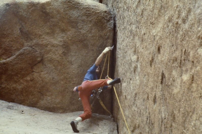 Tom Callaghan starting out the first roof (11) in 1983.