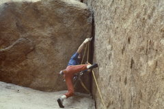 Rock Climbing Photo: Tom Callaghan starting out the first roof (11) in ...