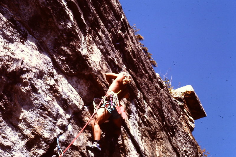 Coach Niland on Persistent at an area I cannot say 5.11 RIGHT !