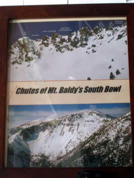 Rock Climbing Photo: Baldy Chutes, guide pic in the Sierra Club Hut