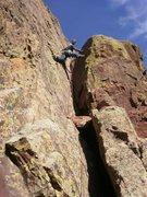 Rock Climbing Photo: The super fun, last pitch.  Photo: Eggleston.