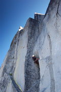 Rock Climbing Photo: Following on the crux of Quest for Glory (5.10D)