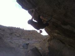 Rock Climbing Photo: my friend john on the falcon