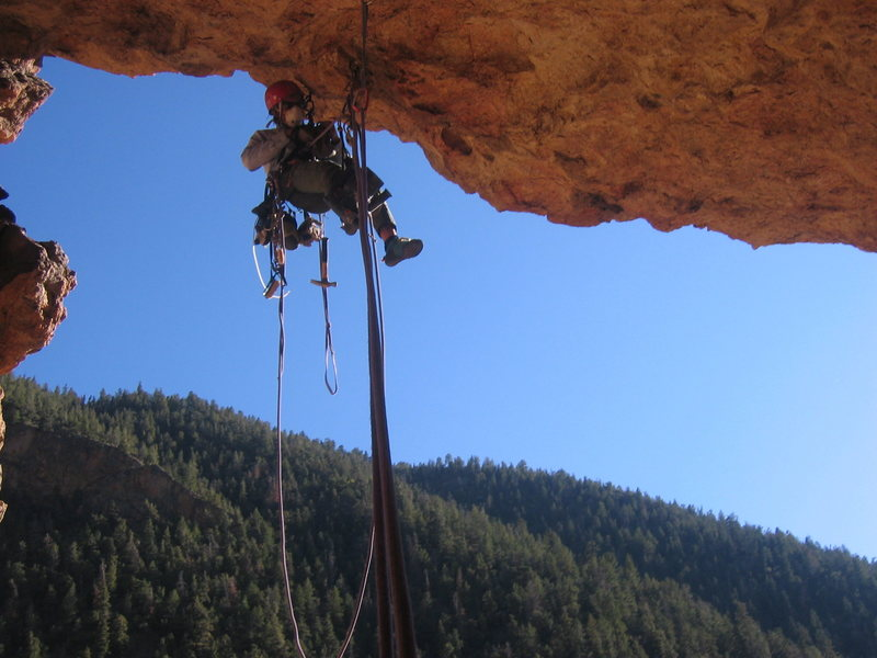 Joel going ground up on The Moly Mind Cave Proj.  FoleyPhoto