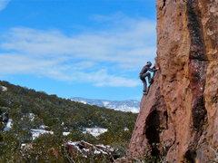 Rock Climbing Photo: Helen warming up on a crisp, clear day. Jan. 30, 2...