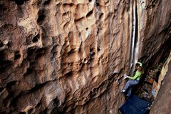 Rock Climbing Photo: Ashley on Jason Kehl's Bloodline (V5 or V8 dependi...