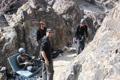 Rock Climbing Photo: Eric, Albert (in the belay chair), David and Agina...