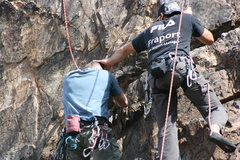 Rock Climbing Photo: Not sure if Eric was patting Kevin on the head or ...