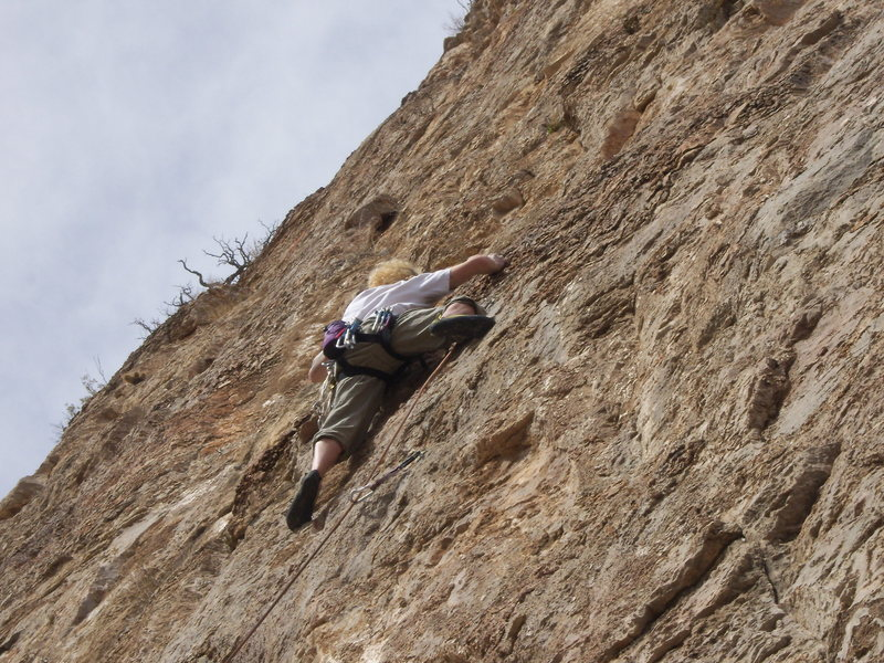 Great Warm up..Me on the on-sight, first time on limestone chert..Amazing..