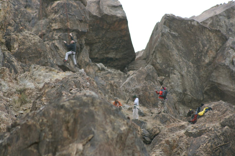 Rock Climbing Photo: ROWCC climbers across the valley.