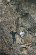 Rock Climbing Photo: Eric Odenthal and Jeff Brennan checking out Lethal...