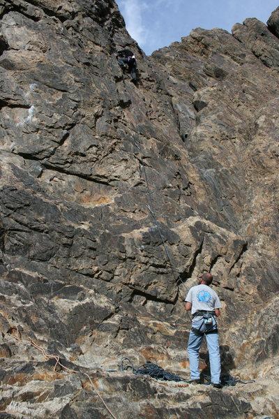 Rock Climbing Photo: Agina Sedler with Nathan Fitzhugh on belay.