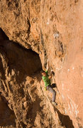 Rock Climbing Photo: MattL moving out of the second rest into the 3rd d...