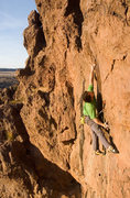 Rock Climbing Photo: MattL moving through the final boulder problem of ...
