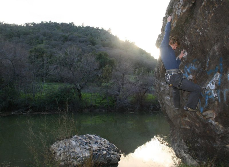 Rock Climbing Photo: Bouldering over the creek