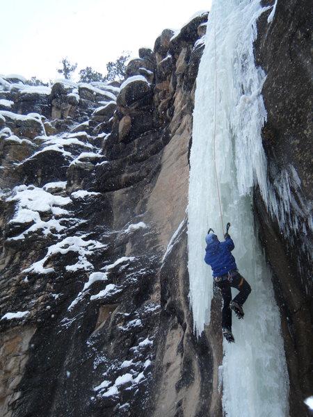 Rock Climbing Photo: Jim Whalen taking his turn.