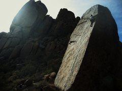 Rock Climbing Photo: Working up Naked Edge