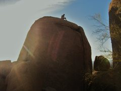 Rock Climbing Photo: Shot of the East side of the Y-Crack boulder.  L t...