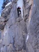 "Rock Climbing Photo: Brad ""embracing"" the FFA, Dragon's Breat..."