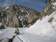 Rock Climbing Photo: Getting towed by a snowmobile on my snowboard towa...