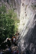 Rock Climbing Photo: Mota Wall on a Busy day in Dec 2009. Get in line! ...